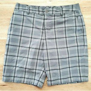 Under Armour Mens Catalyst Gray Plaid Shorts 34